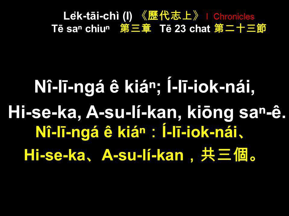 Sī-ka-nî ê kiá Sī-má-ngá; Sī-má-ngá ê kiá; Hap-tu ̍ t, Í-kah, Pa-lī-a, Nî-lī-ngá, Sa-hoat, kiōng la ̍ k-ê. Sī-ka-nî ê kiá Sī-má-ngá Sī-má-ngá ê kiá Ha