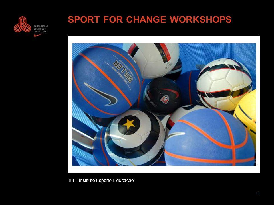 13 SPORT FOR CHANGE WORKSHOPS IEE- Instituto Esporte Educação