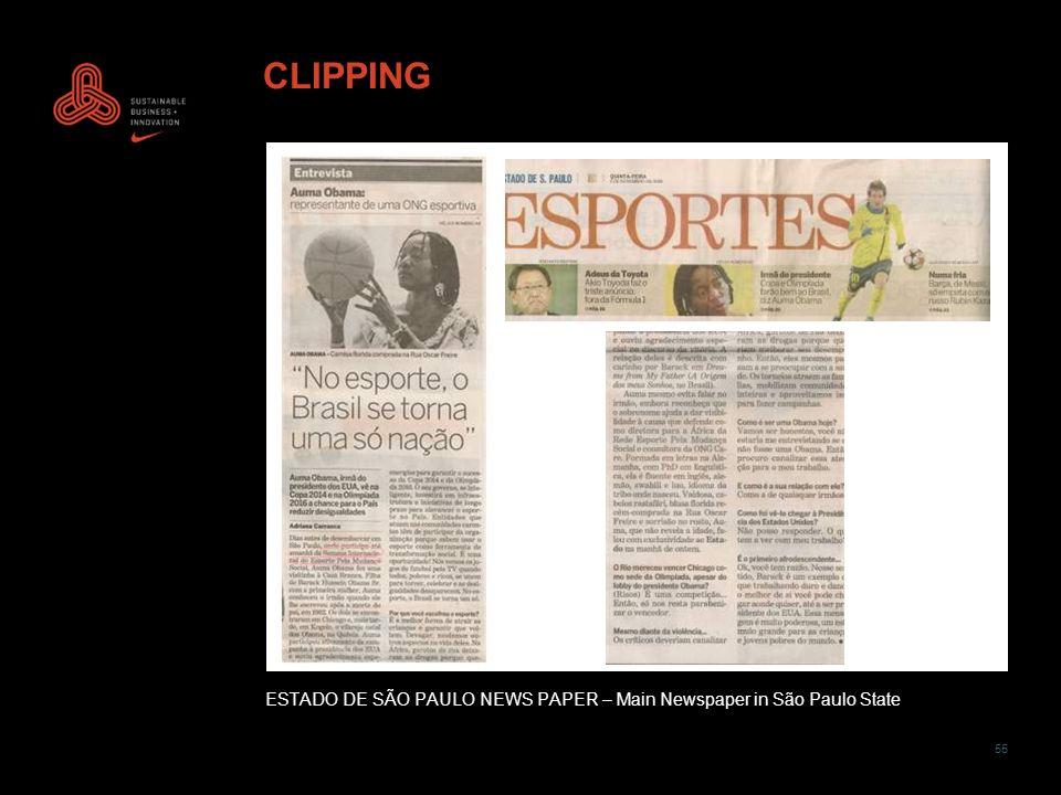 55 CLIPPING ESTADO DE SÃO PAULO NEWS PAPER – Main Newspaper in São Paulo State