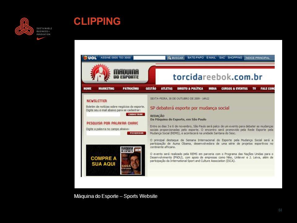 58 CLIPPING Máquina do Esporte – Sports Website
