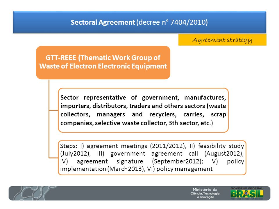 GTT-REEE (Thematic Work Group of Waste of Electron Electronic Equipment Sector representative of government, manufactures, importers, distributors, tr