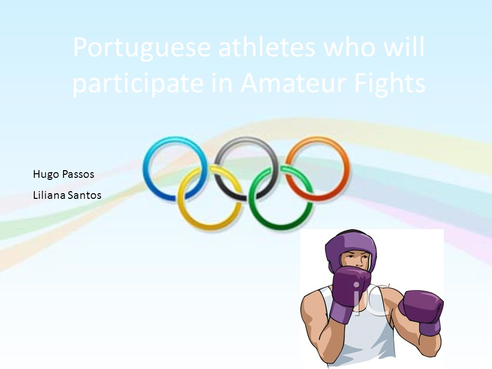 Portuguese athletes who will participate in Amateur Fights Hugo Passos Liliana Santos