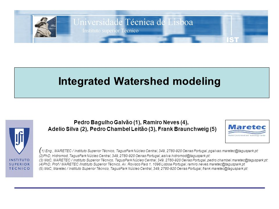 Interreg II-B ICREW selected site (Montargil reservoir) –Cianobacteria bloom problem –Evaluation of water quality under the new bathing water directive Watershed diffuse pollution loadings to reservoir