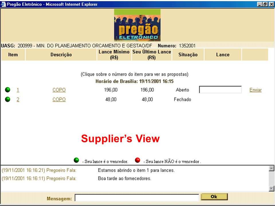 Suppliers View