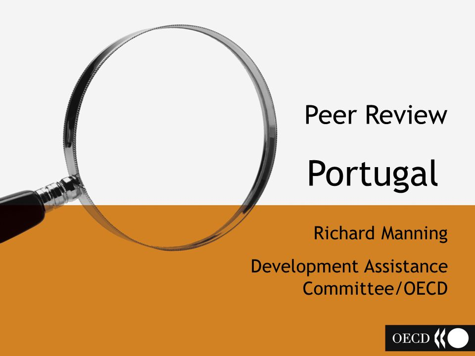 Peer Review Portugal Richard Manning Development Assistance Committee/OECD