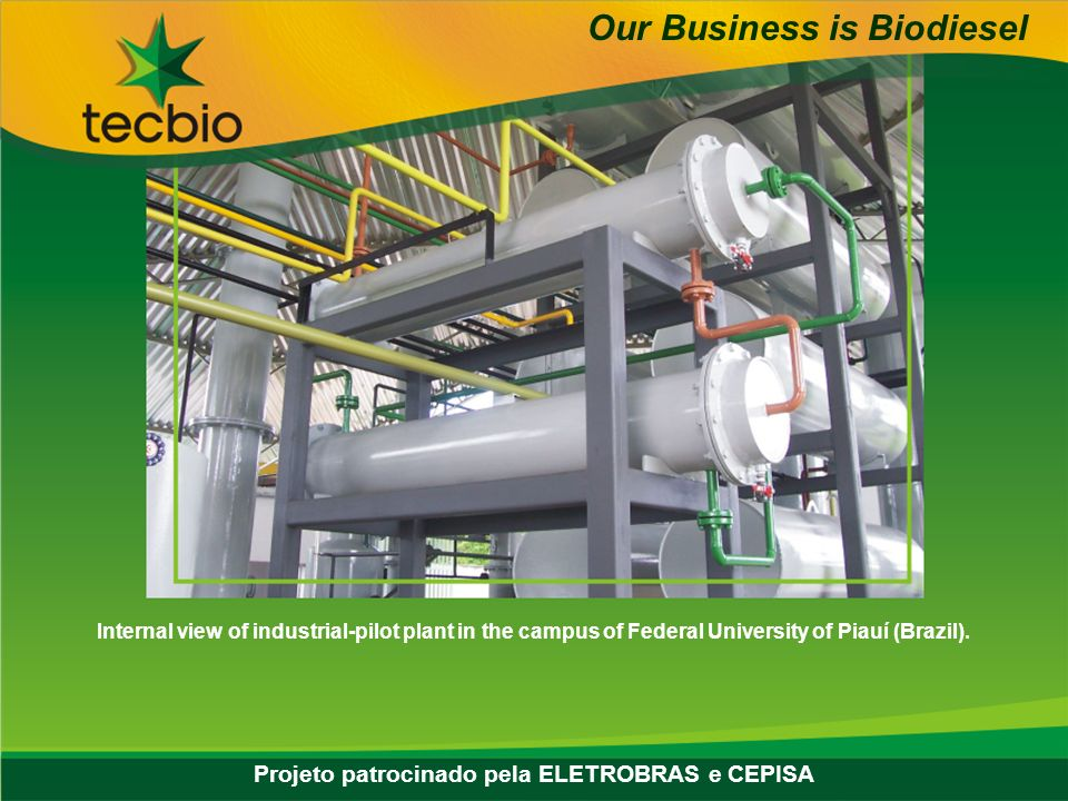 Biodiesel in the Plural 20 May, 20062006 Eastern Biofuel Conference Internal view of industrial-pilot plant in the campus of Federal University of Piauí (Brazil).