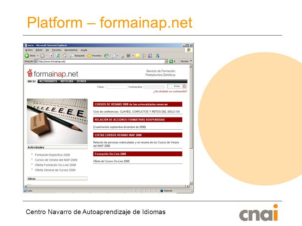 Centro Navarro de Autoaprendizaje de Idiomas Platform – formainap.net