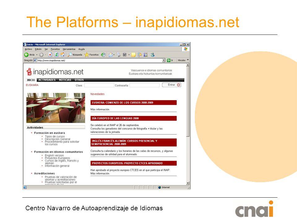 Centro Navarro de Autoaprendizaje de Idiomas The Platforms – inapidiomas.net