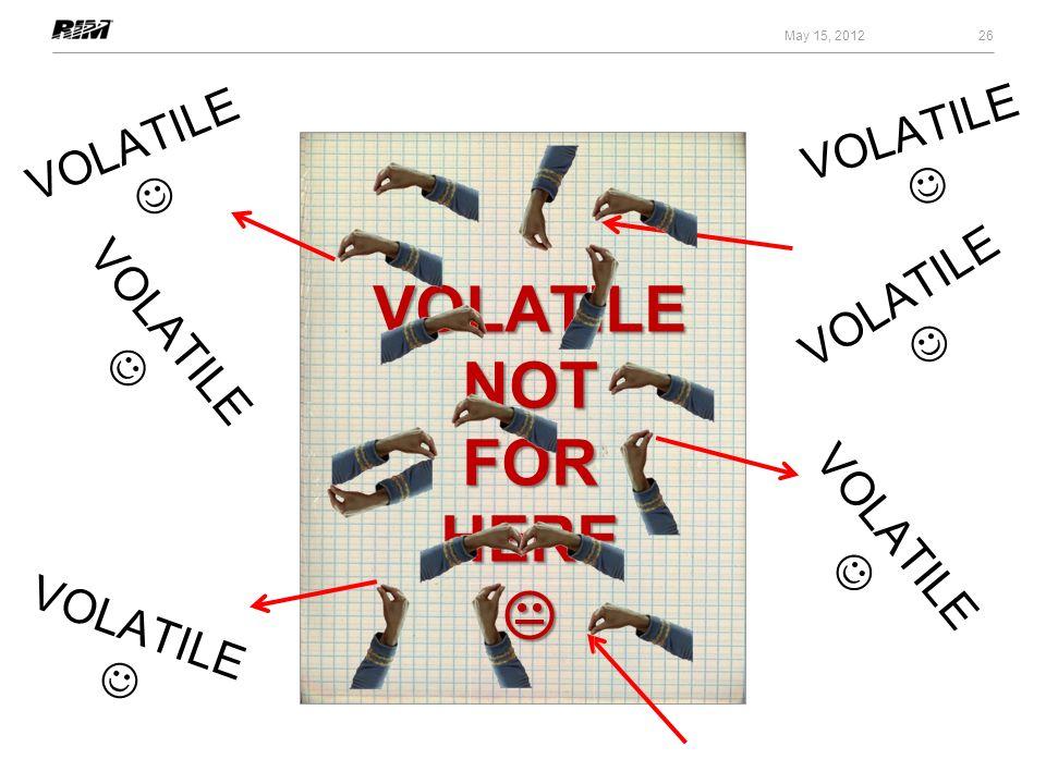 VOLATILENOTFORHERE 26 May 15, 2012 VOLATILE