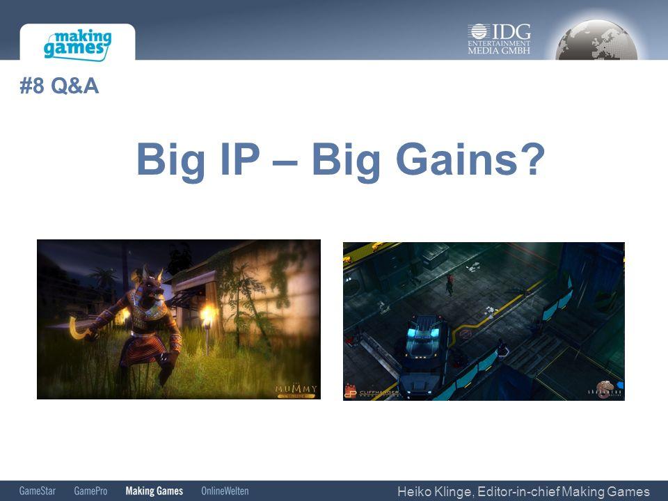 #8 Q&A Heiko Klinge, Editor-in-chief Making Games Big IP – Big Gains?