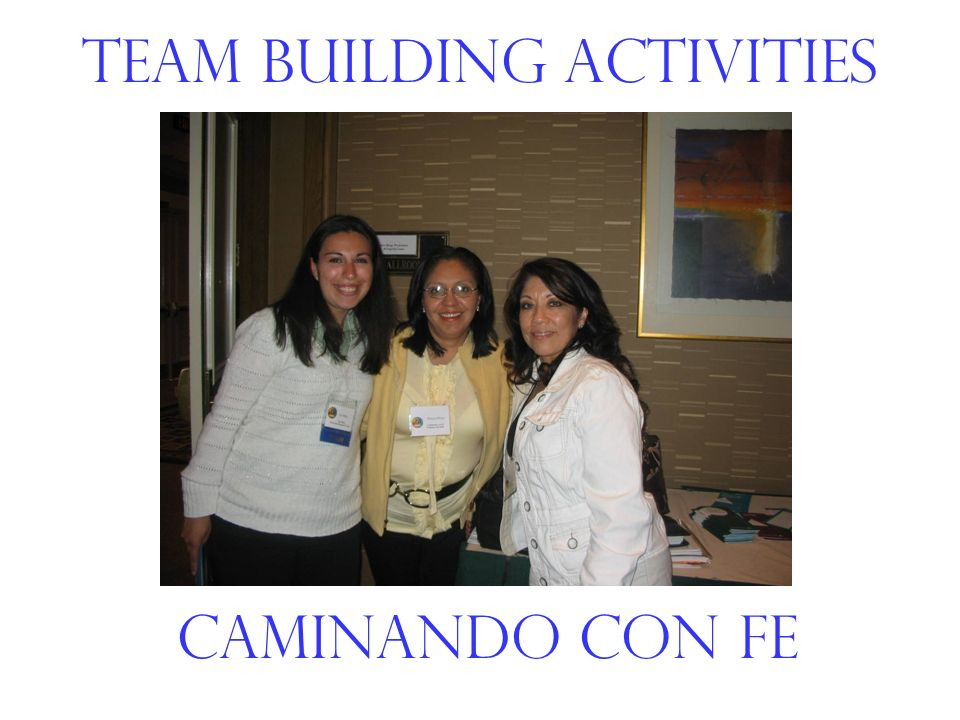 Team Building Activities Caminando con fe