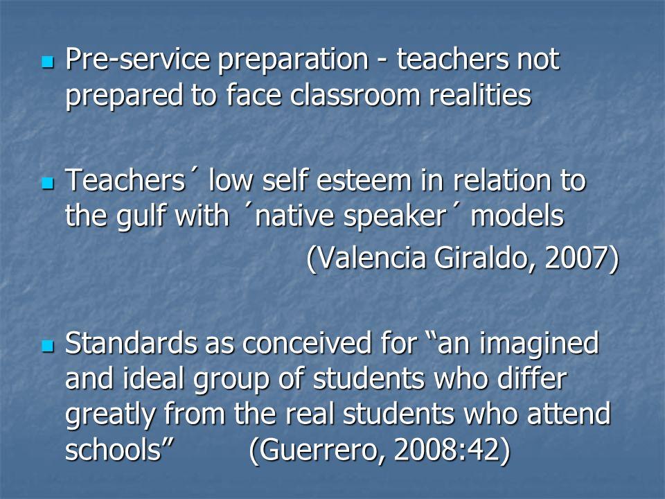 Pre-service preparation - teachers not prepared to face classroom realities Pre-service preparation - teachers not prepared to face classroom realitie