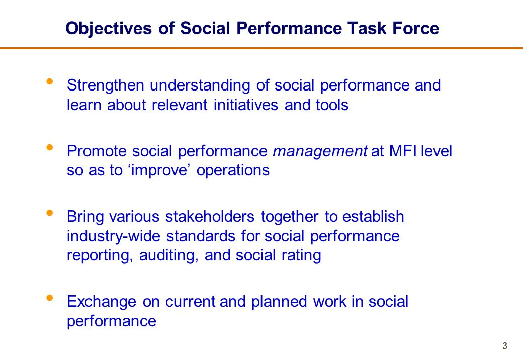 4 What is Social Performance.