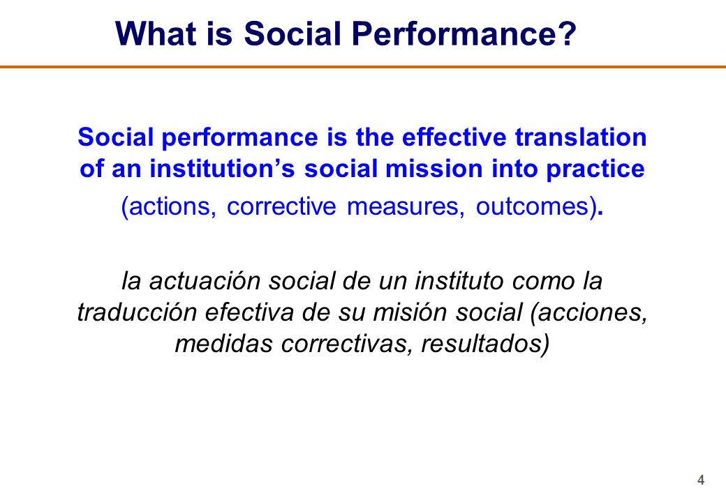 5 Social Performance Management Questions 1.What are your social performance goals.