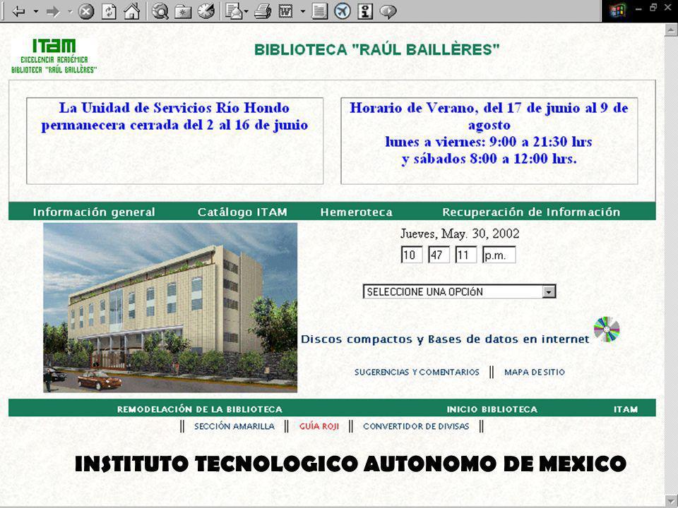 INSTITUTO TECNOLOGICO AUTONOMO DE MEXICO