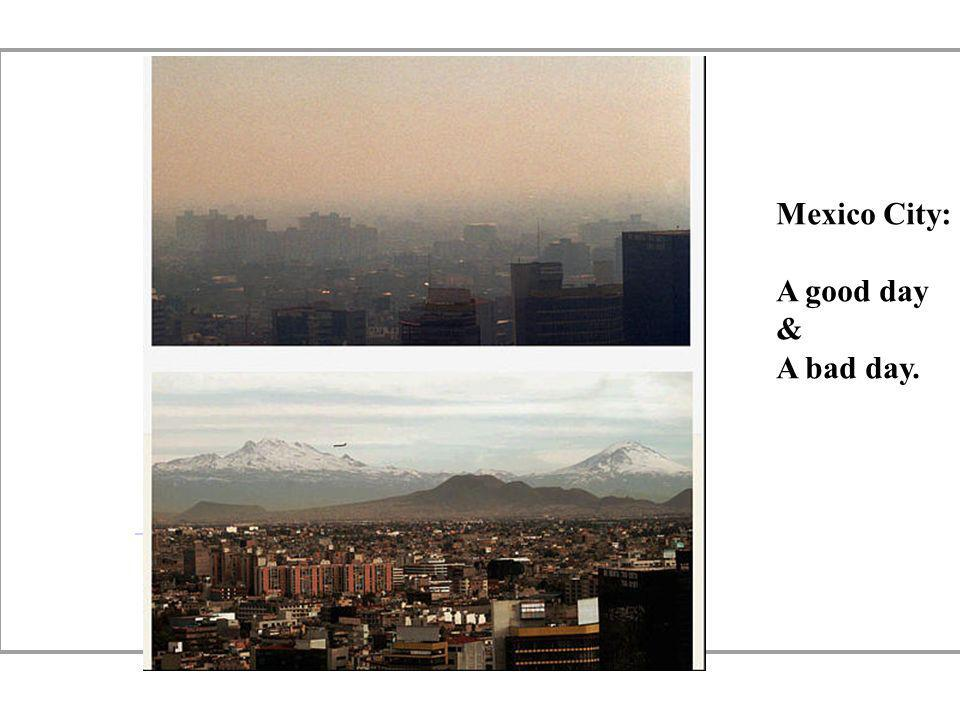 Mexico City: A good day & A bad day.