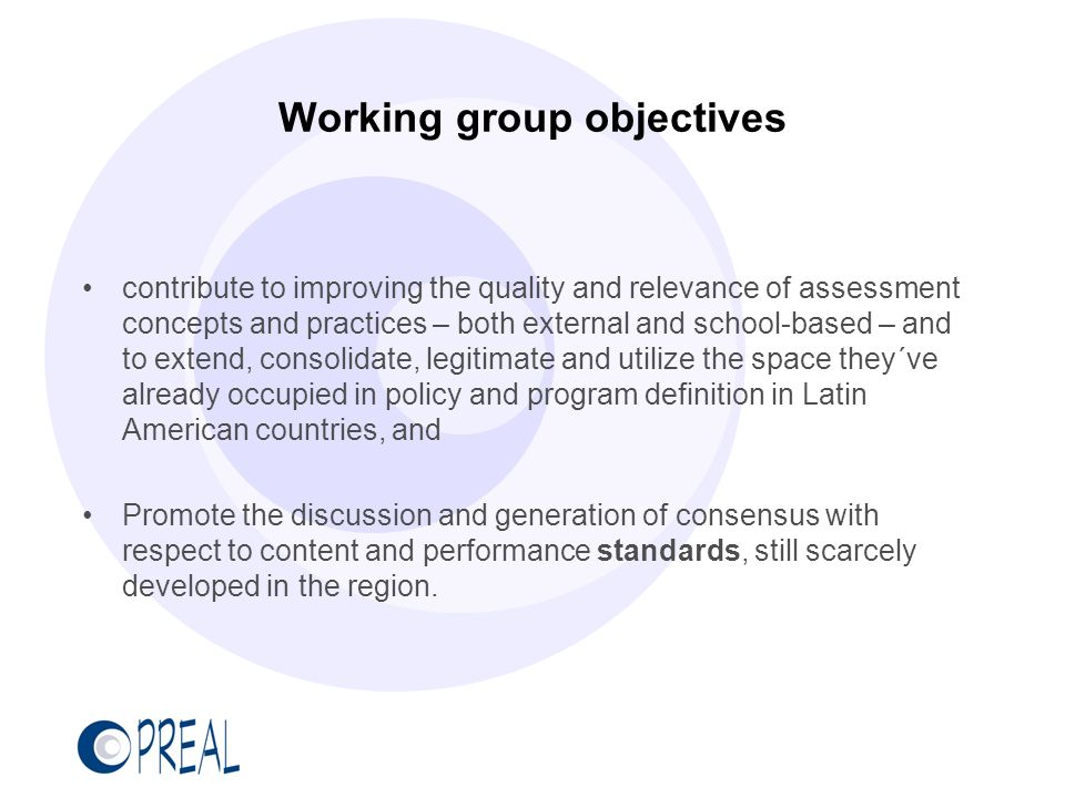 Working group objectives contribute to improving the quality and relevance of assessment concepts and practices – both external and school-based – and