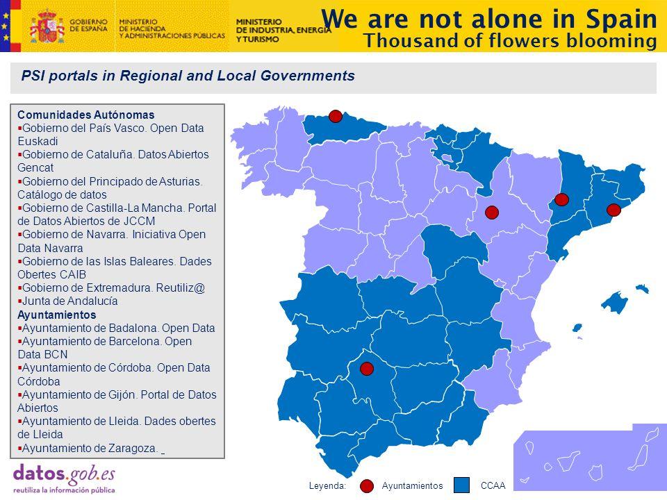PSI portals in Regional and Local Governments Comunidades Autónomas Gobierno del País Vasco.