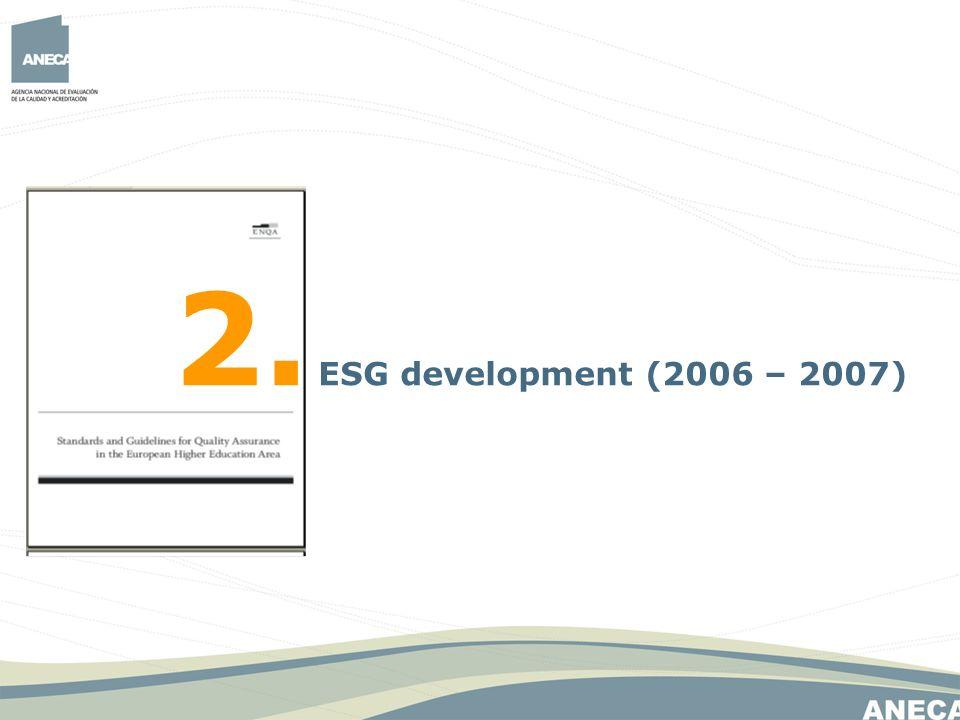 2. ESG development (2006 – 2007)