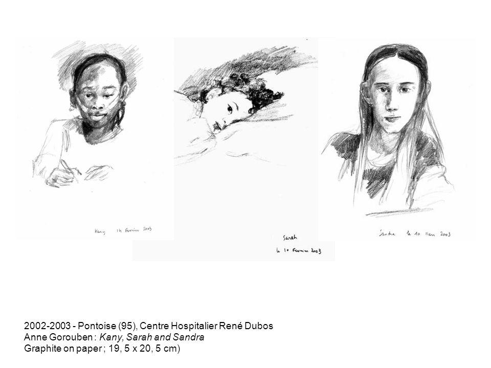 2002-2003 - Pontoise (95), Centre Hospitalier René Dubos Anne Gorouben : Kany, Sarah and Sandra Graphite on paper ; 19, 5 x 20, 5 cm)