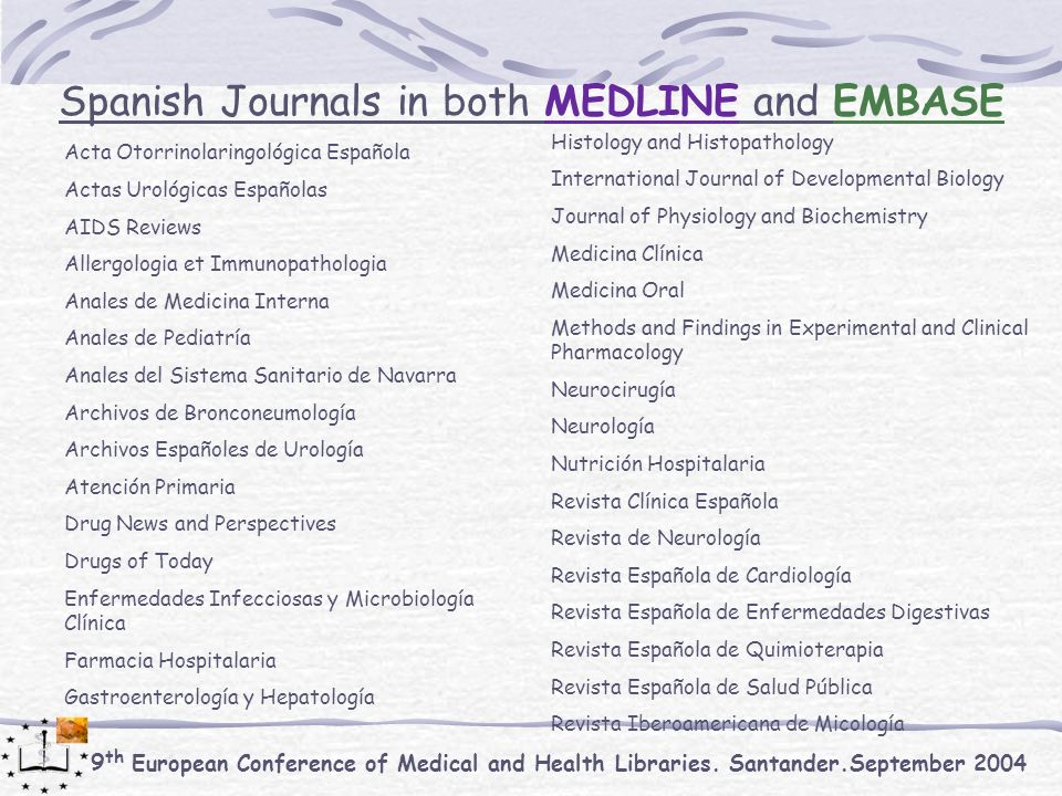 9 th European Conference of Medical and Health Libraries.