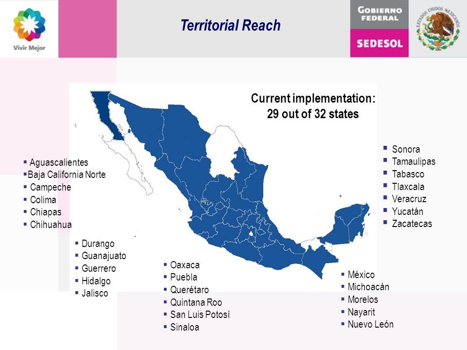 Territorial Reach Sonora Tamaulipas Tabasco Tlaxcala Veracruz Yucatán Zacatecas Durango Guanajuato Guerrero Hidalgo Jalisco Aguascalientes Baja Califo