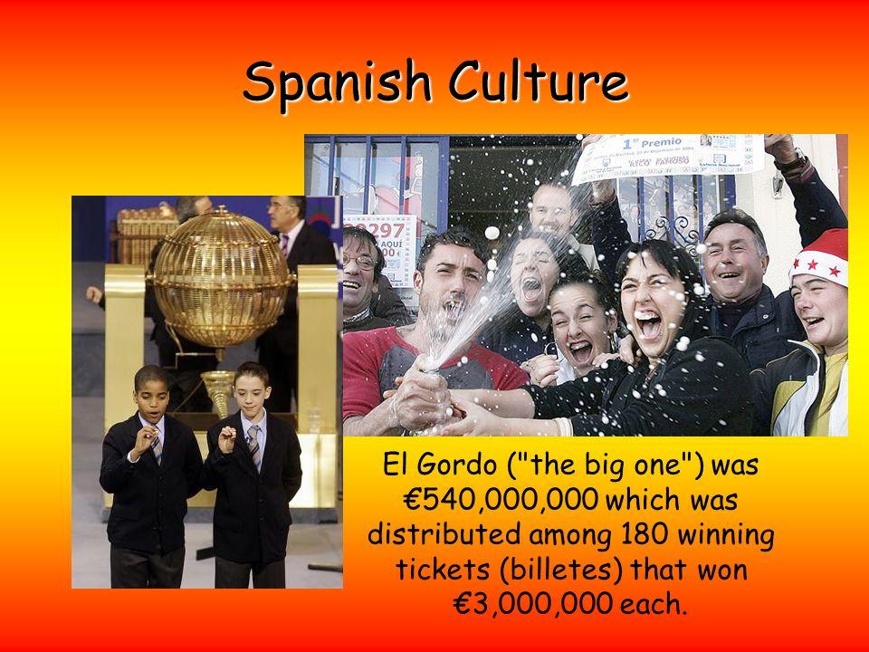 Spanish Culture El Gordo (