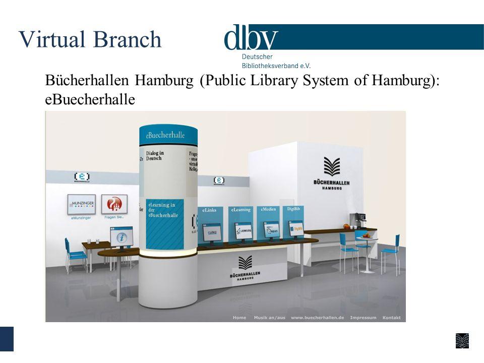 Virtual Branch Bücherhallen Hamburg (Public Library System of Hamburg): eBuecherhalle