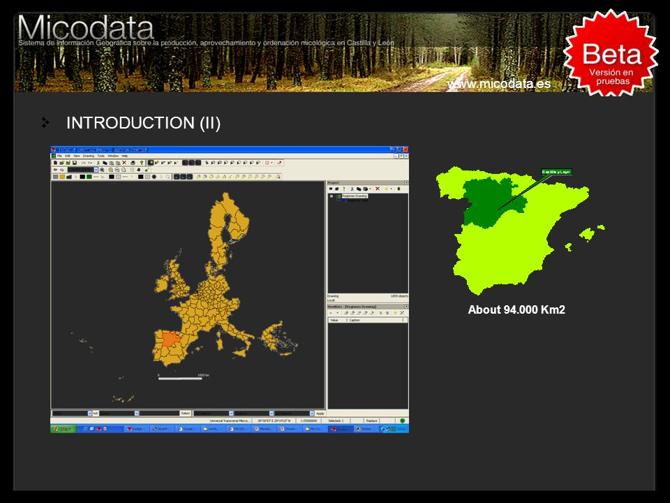 INTRODUCTION (II) www.micodata.es A MODIS Image and Castilla y León border
