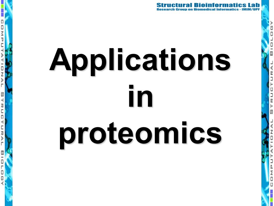 Applications in proteomics