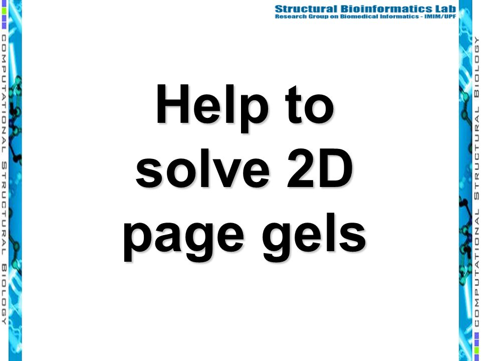 Help to solve 2D page gels