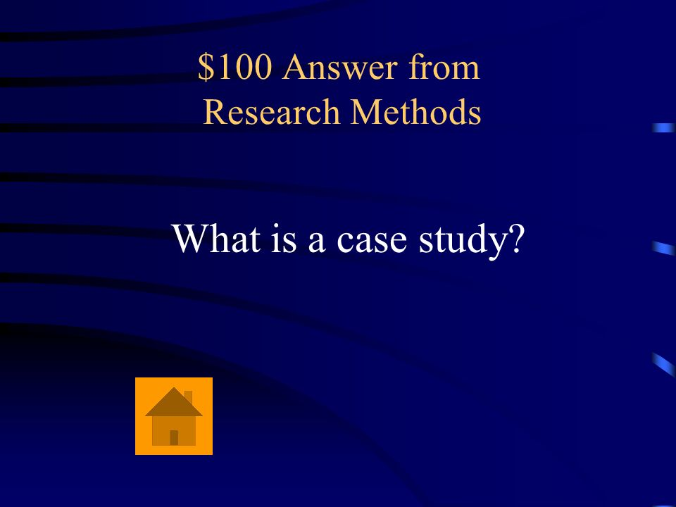 $100 Question from Research Methods An example of this type of research method is a psychologist keeping a very detailed record of a series of intervi
