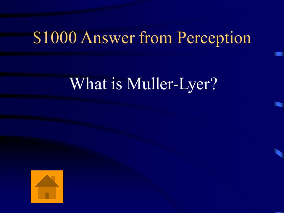 $1000 Question from Perception Even though two lines are of equal length, the one with outward pointing wings looks longer than the one with inward po