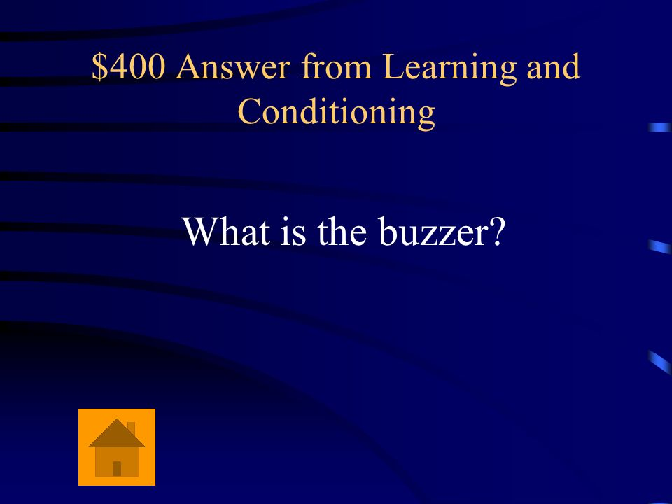 $400 Question from Learning and Conditioning A puff of air to the eye causes a reflexive blink. If you precede the puff of air with a buzzer, eventual