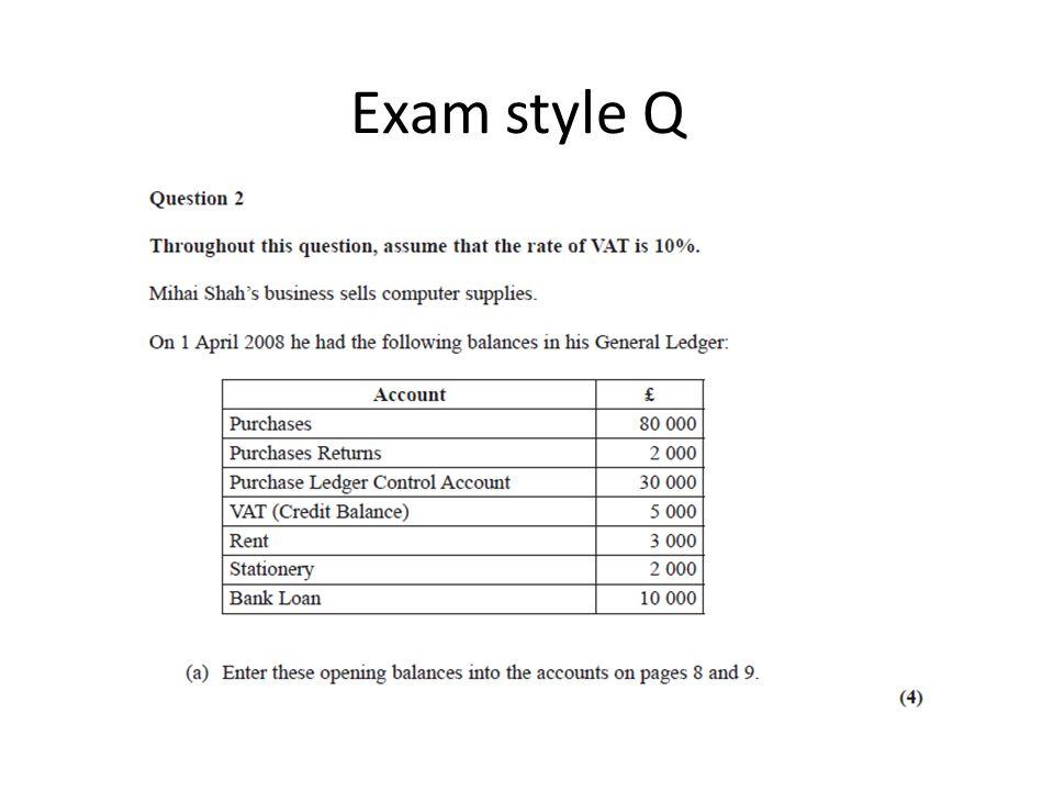Exam style Q