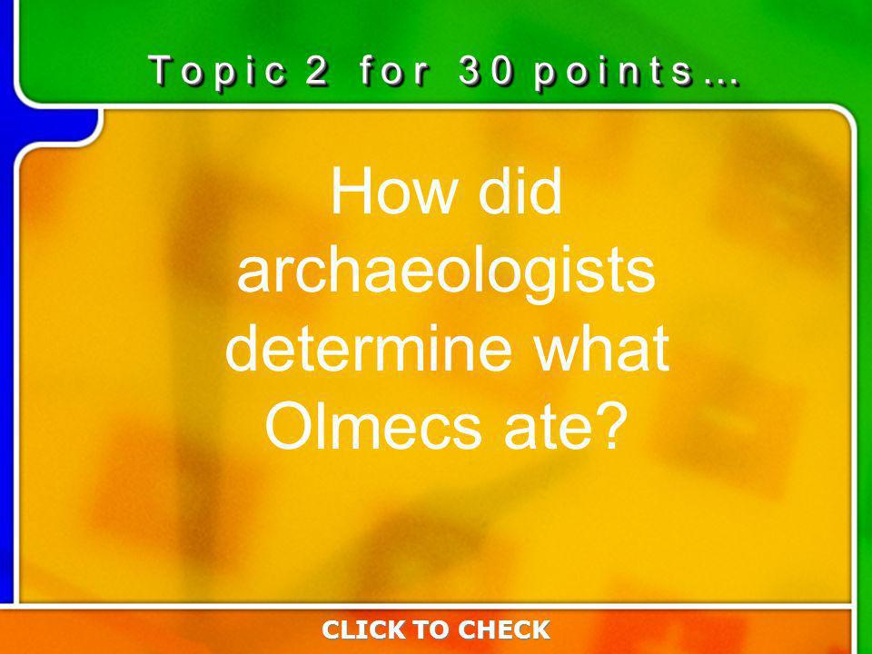2:302:30 How did archaeologists determine what Olmecs ate.
