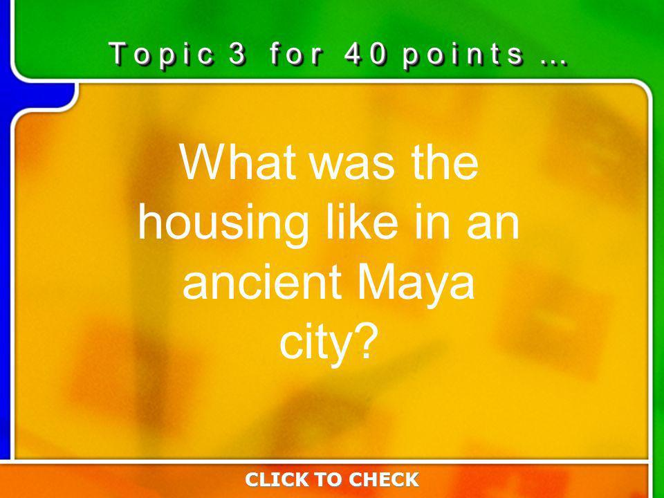 3:403:40 What was the housing like in an ancient Maya city.