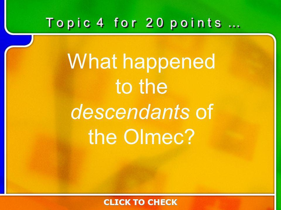 4:204:20 What happened to the descendants of the Olmec.