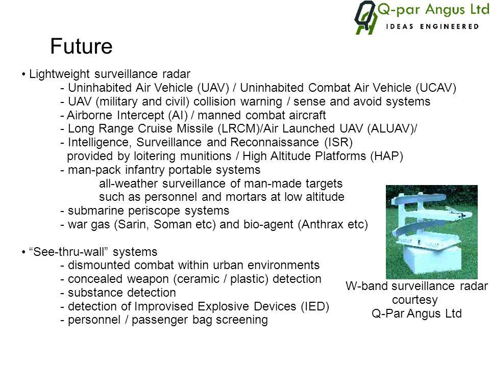 Lightweight surveillance radar - Uninhabited Air Vehicle (UAV) / Uninhabited Combat Air Vehicle (UCAV) - UAV (military and civil) collision warning /