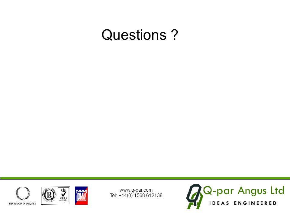 Questions ? www.q-par.com Tel: +44(0) 1568 612138