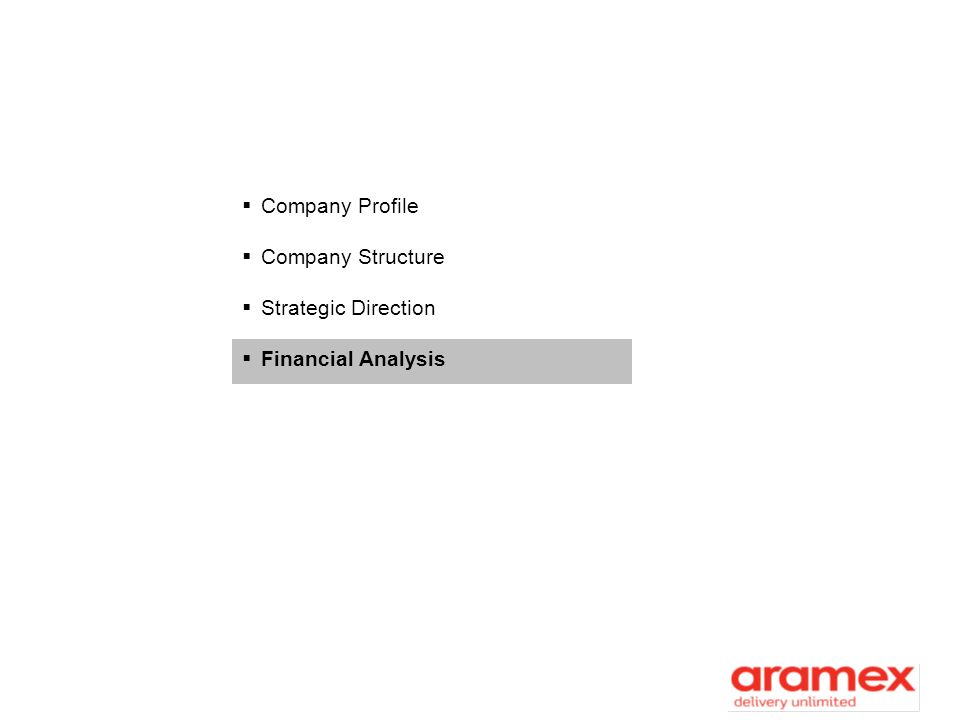 Company Profile Company Structure Strategic Direction Financial Analysis