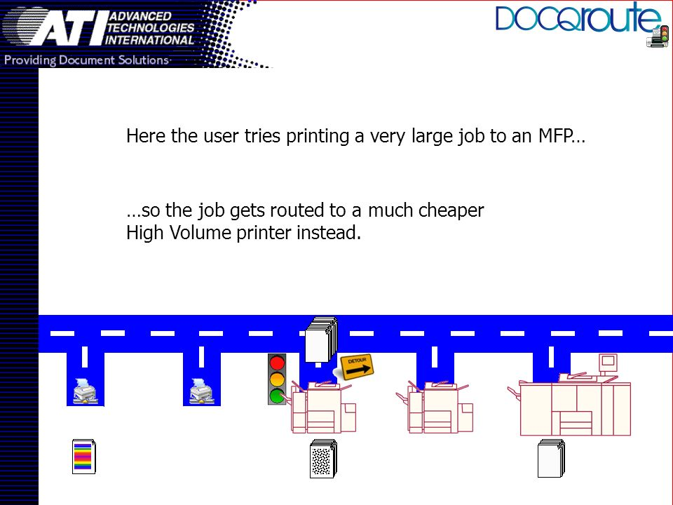 …so the job gets routed to a much cheaper High Volume printer instead.
