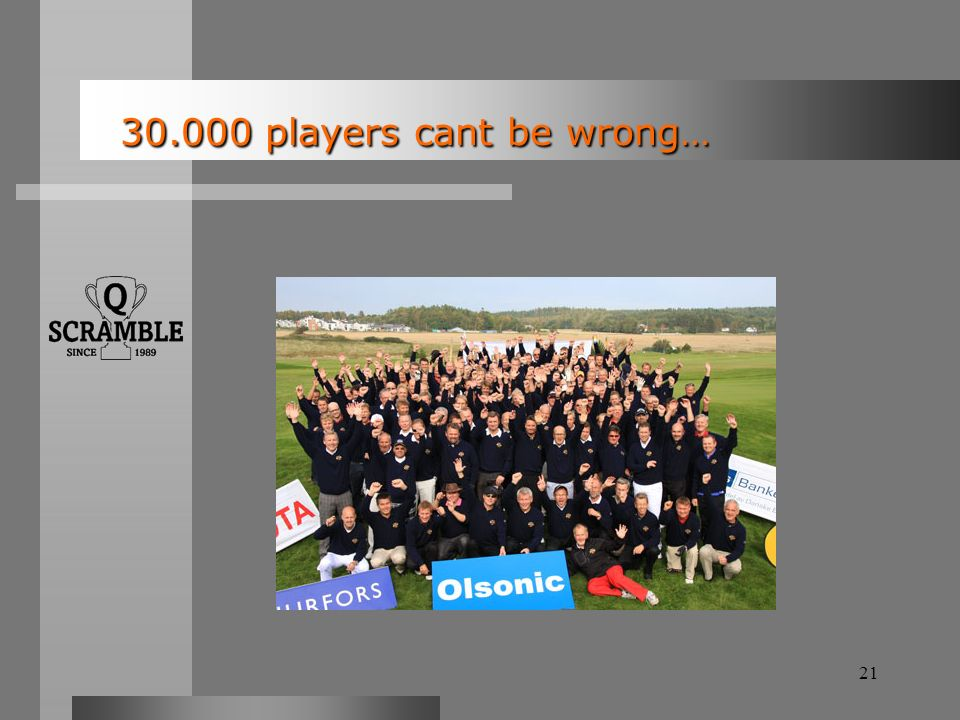 21 30.000 players cant be wrong… 30.000 players cant be wrong…