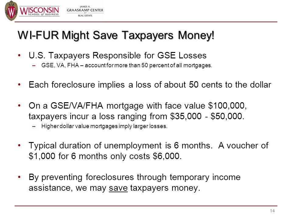 WI-FUR Might Save Taxpayers Money. U.S.