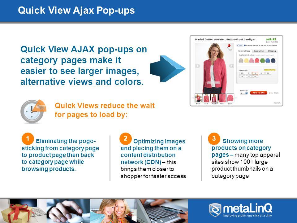 Quick View Examples: Bella, LL Bean, Gap, HSN