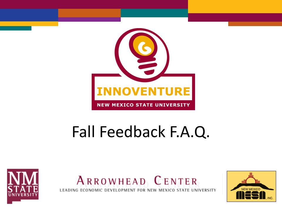 Fall Feedback F.A.Q.