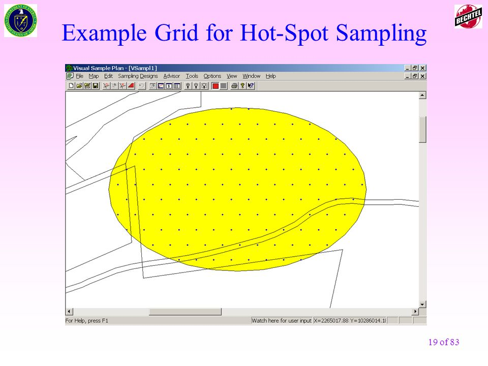 19 of 83 Example Grid for Hot-Spot Sampling