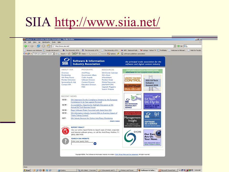 SIIA http://www.siia.net/http://www.siia.net/