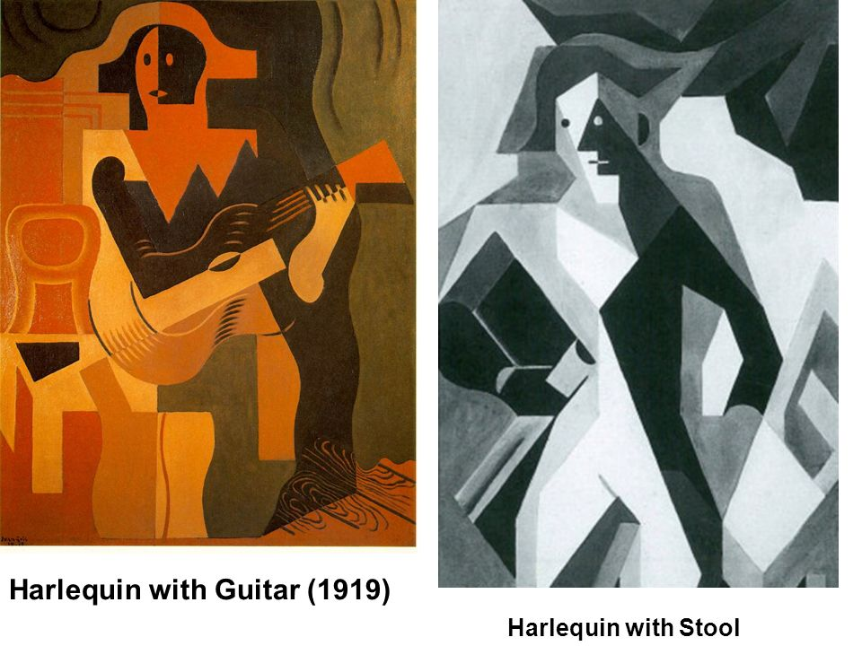 Harlequin with Guitar (1919) Harlequin with Stool