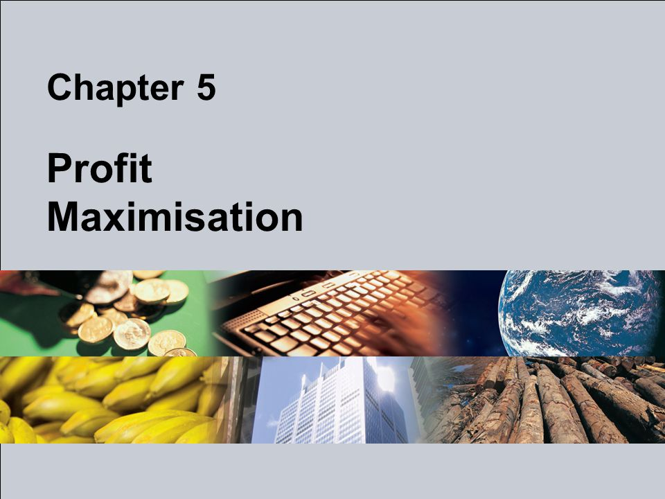 Profit Maximisation Chapter 5